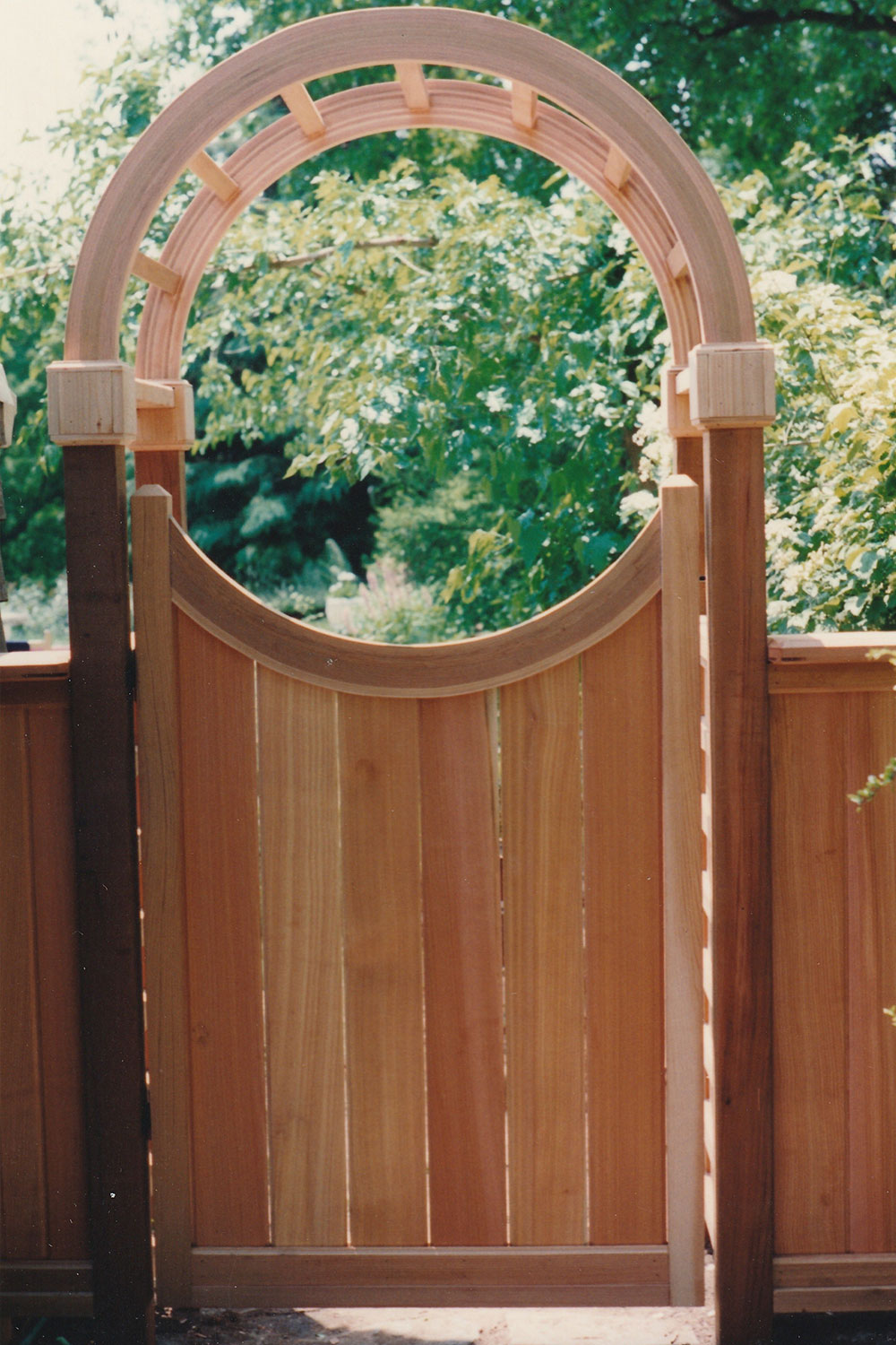 Clear Cedar Custom Round Gate