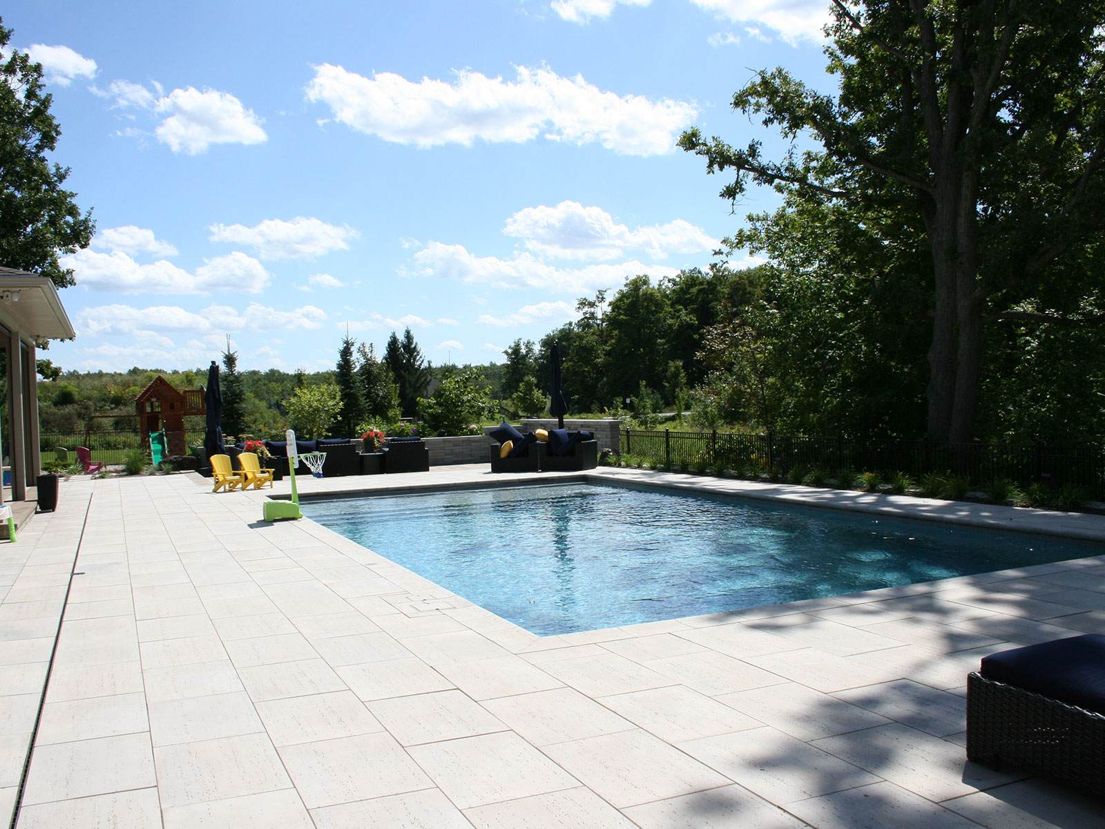 Concrete and Tile Custom Pool