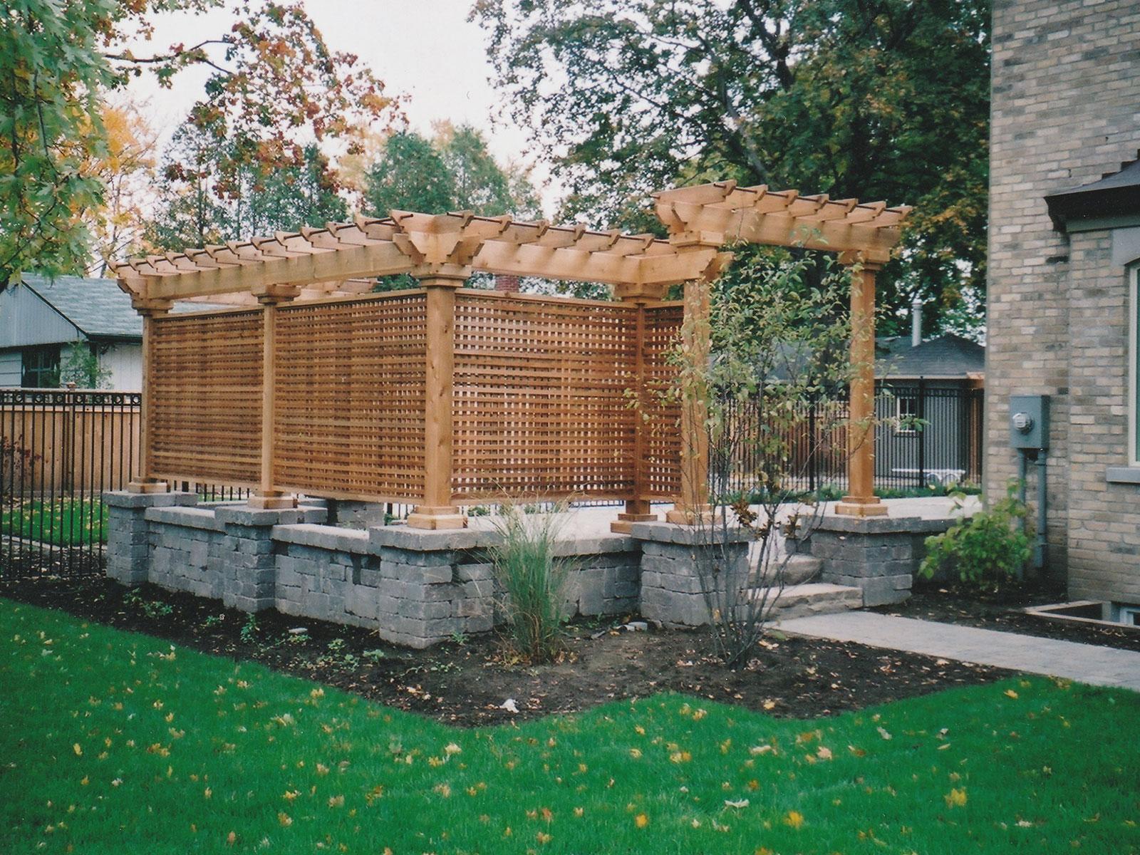 Custom Cedar Privacy Screen and Arbor