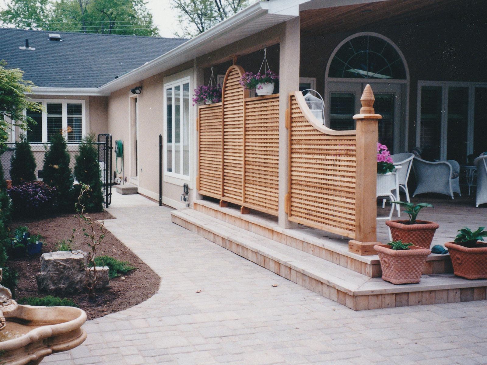 Custom Clear Cedar Deck Privacy Screen