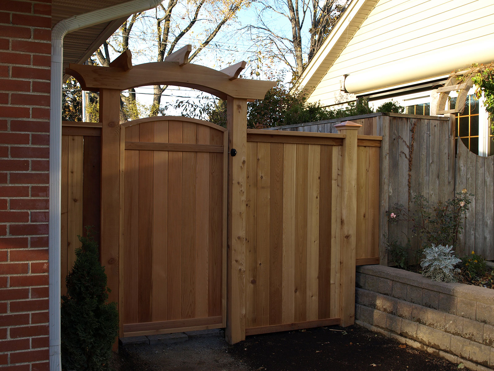 Custom Cedar Gate - Arbour