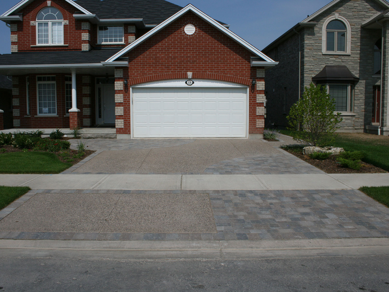 Exposed Aggregate Concrete Paver Driveway Custom