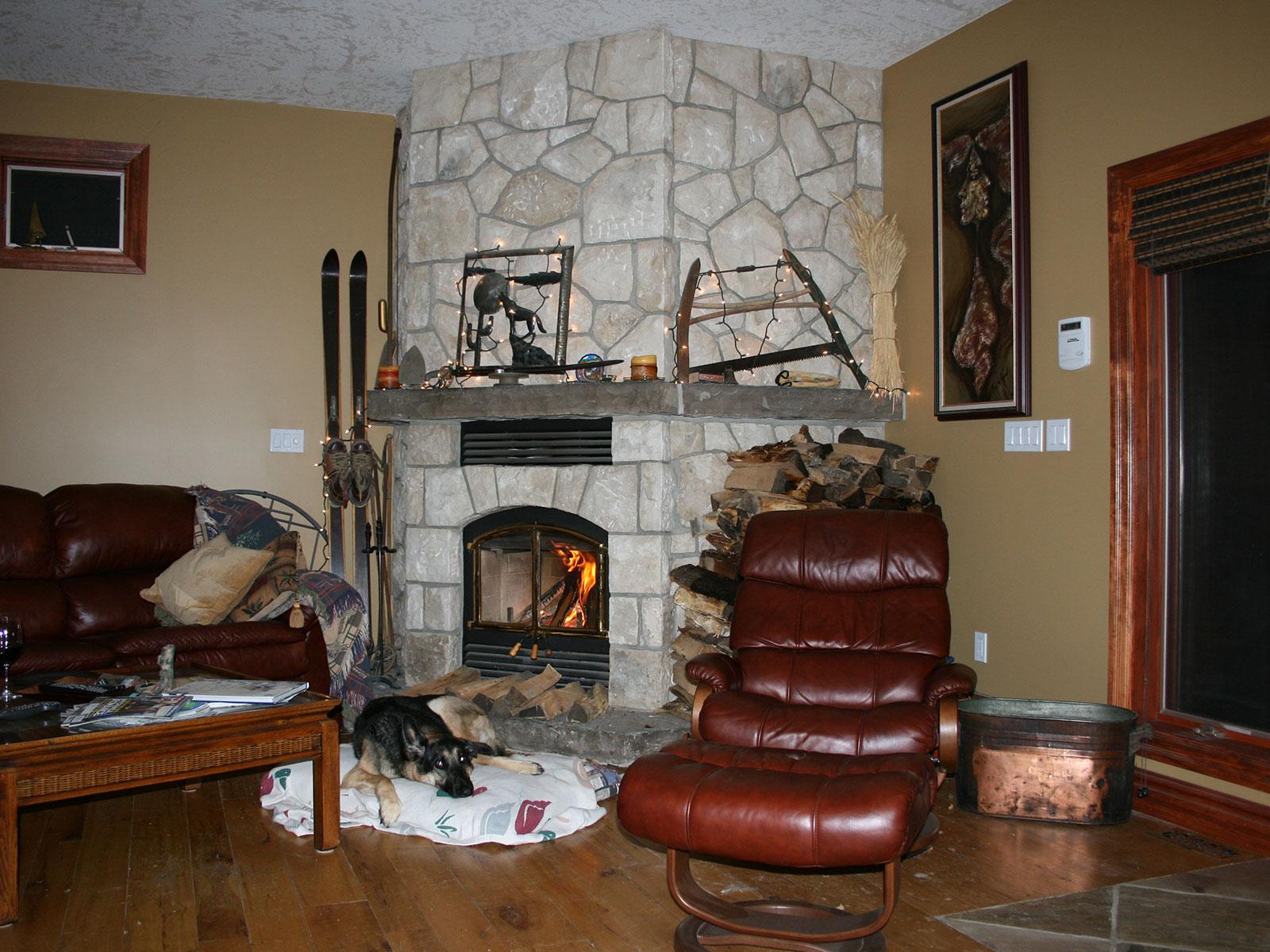 Limstone Custom Stone Fireplace