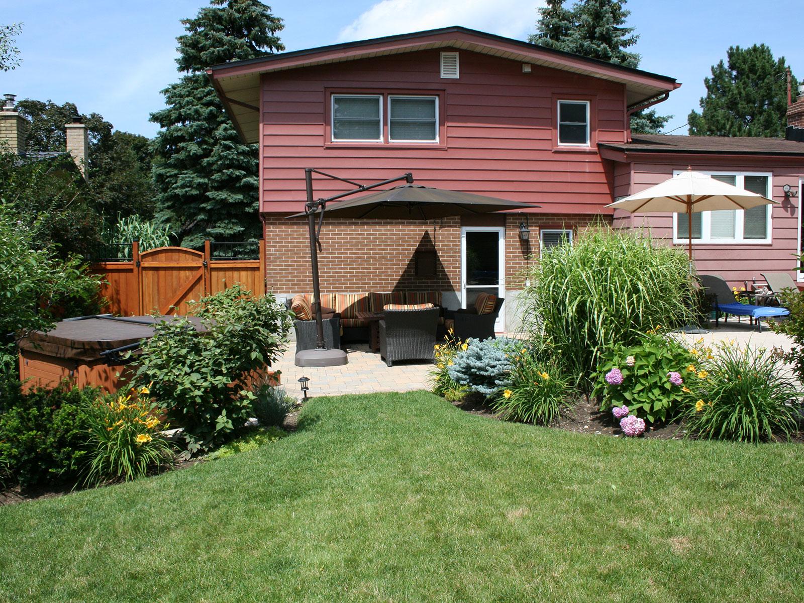 Lush Back Yard Garden