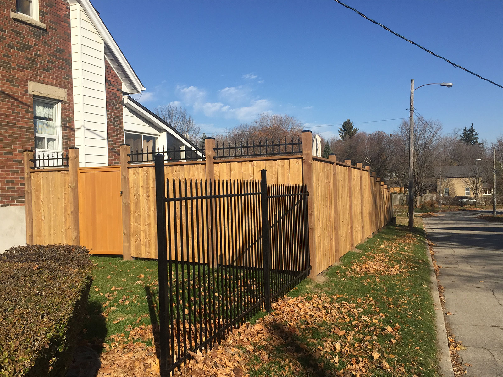 Nuvo Iron - Pressure Treated Custom Fence