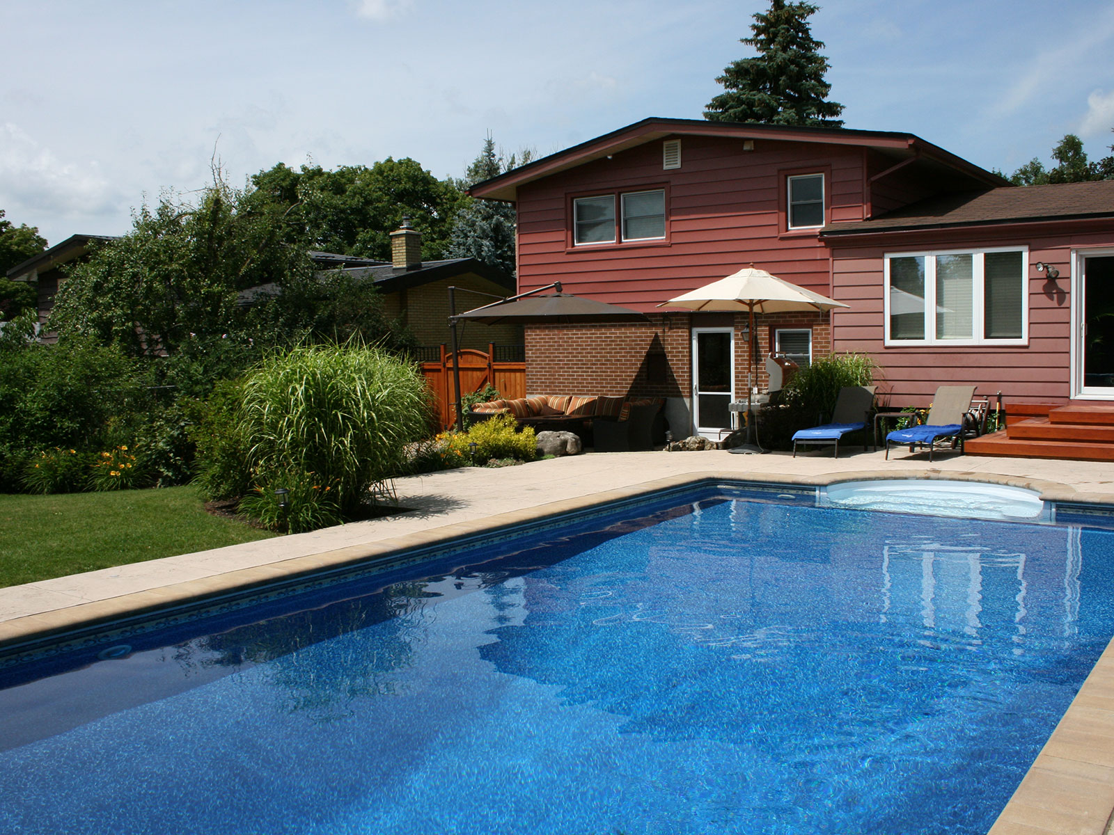 Pool - Stamped Concrete - Pool Deck