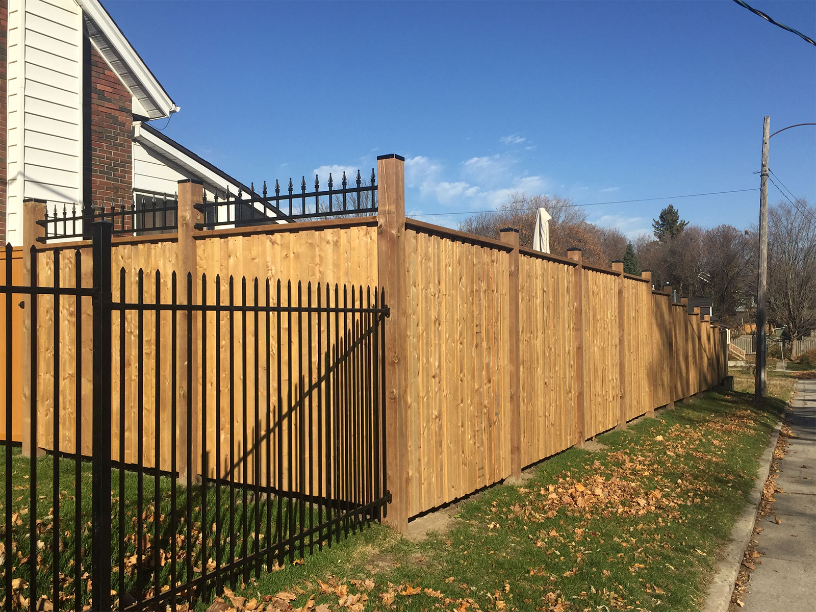 Pressure Treated Privacy Fence - Corner Lot