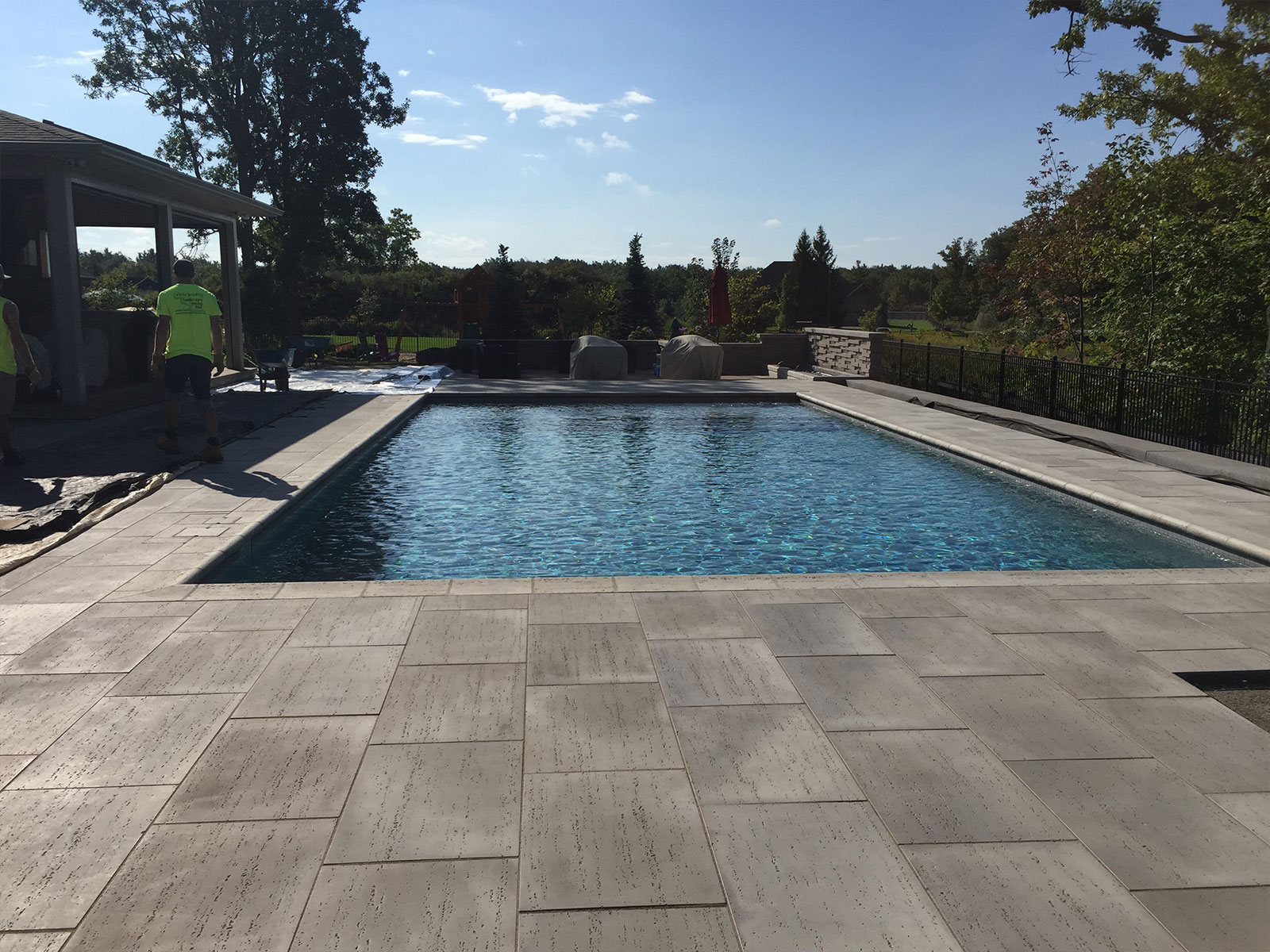 Tiled Concrete Pool - Patio Build