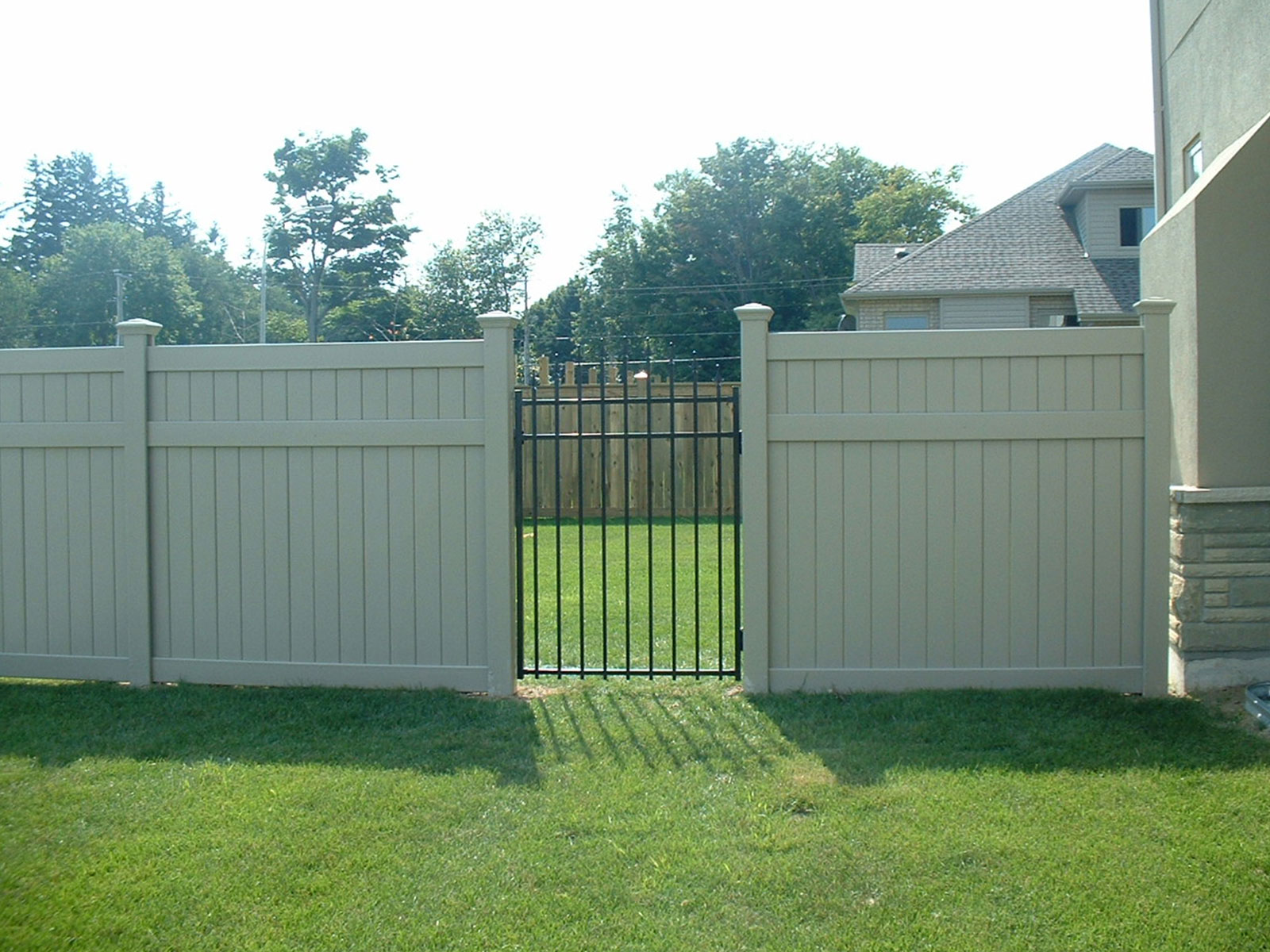 Vinyl Fencing - Ornamental Iron Gate