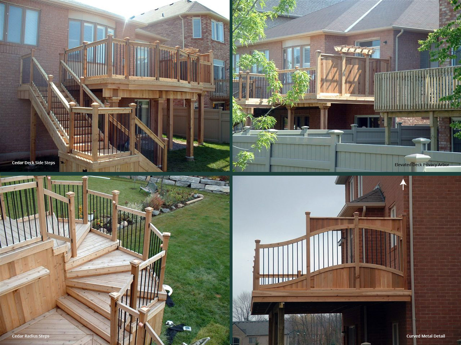Cedar Deck Steps and Privacy Screen