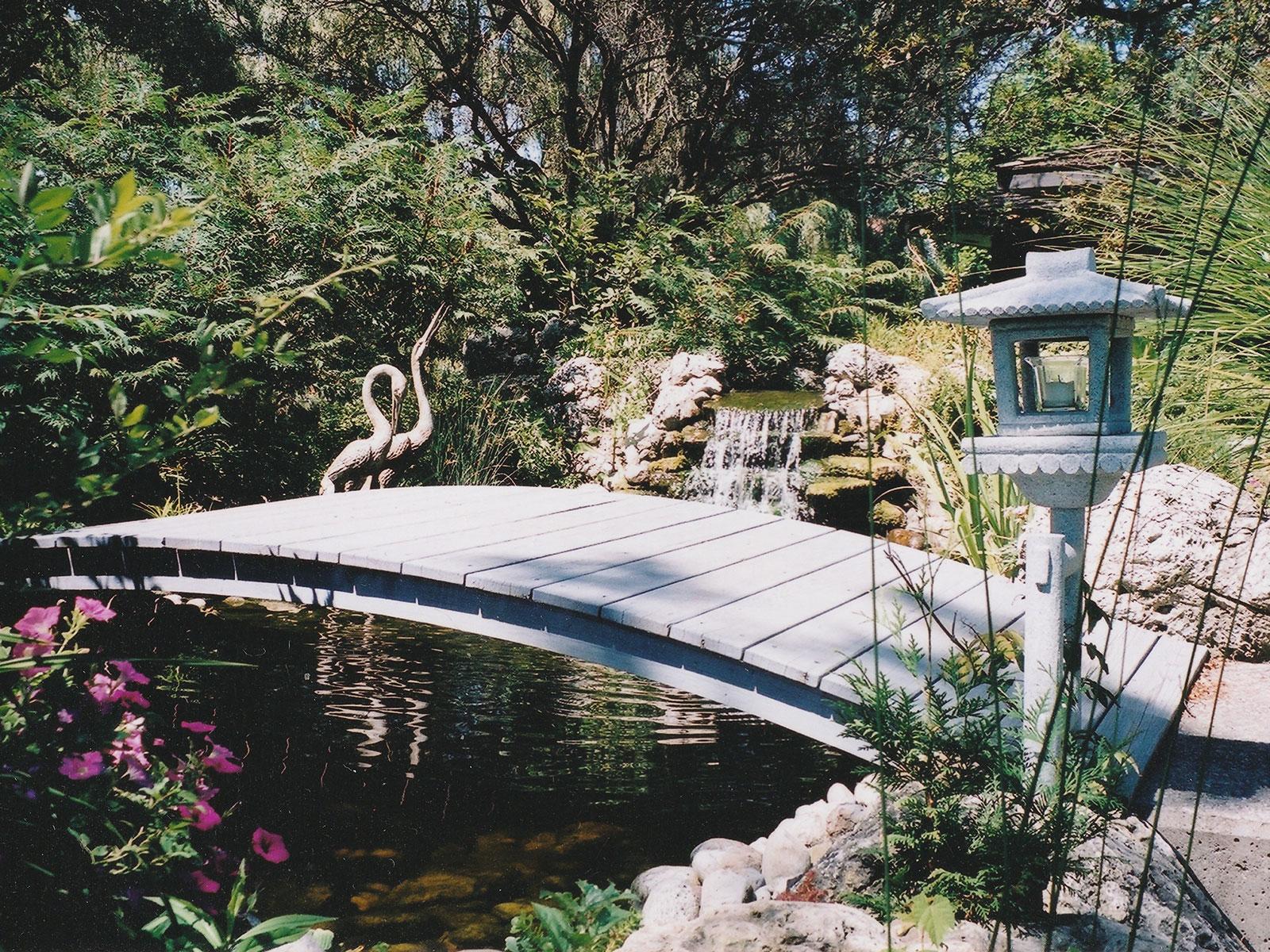Aquascape Ecosystem Water Feature and bridge