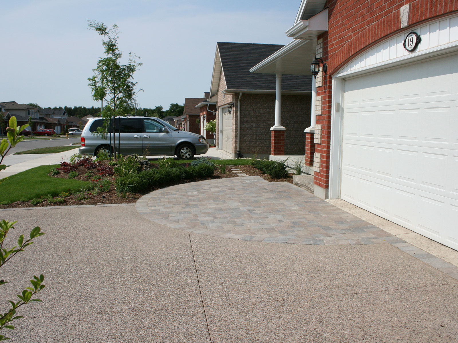 Concrete Paver - Exposed Aggregate - Front Yard - Driveway