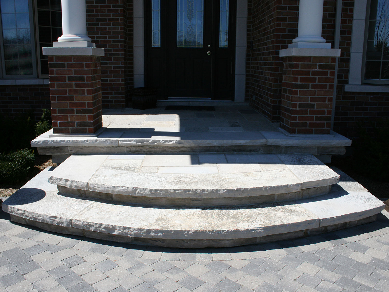 Curved Custom Flagstone Steps