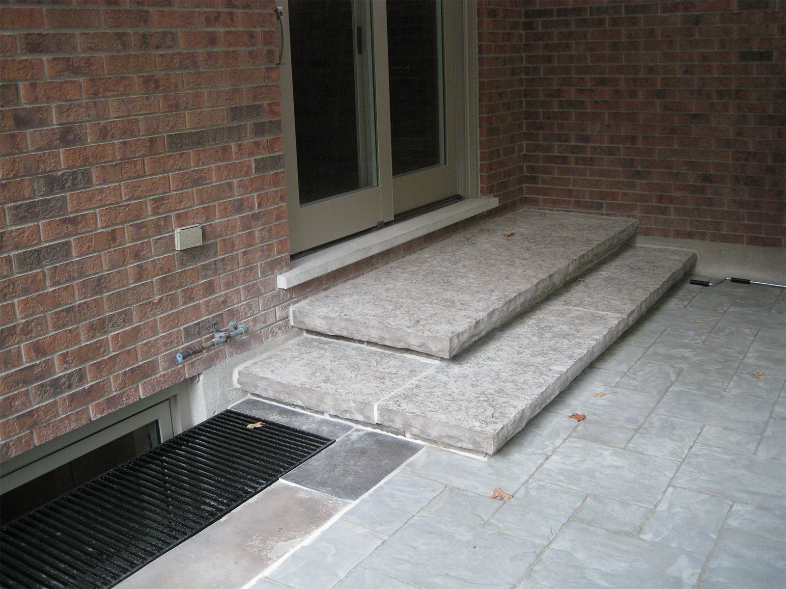 Custom Limestone Steps