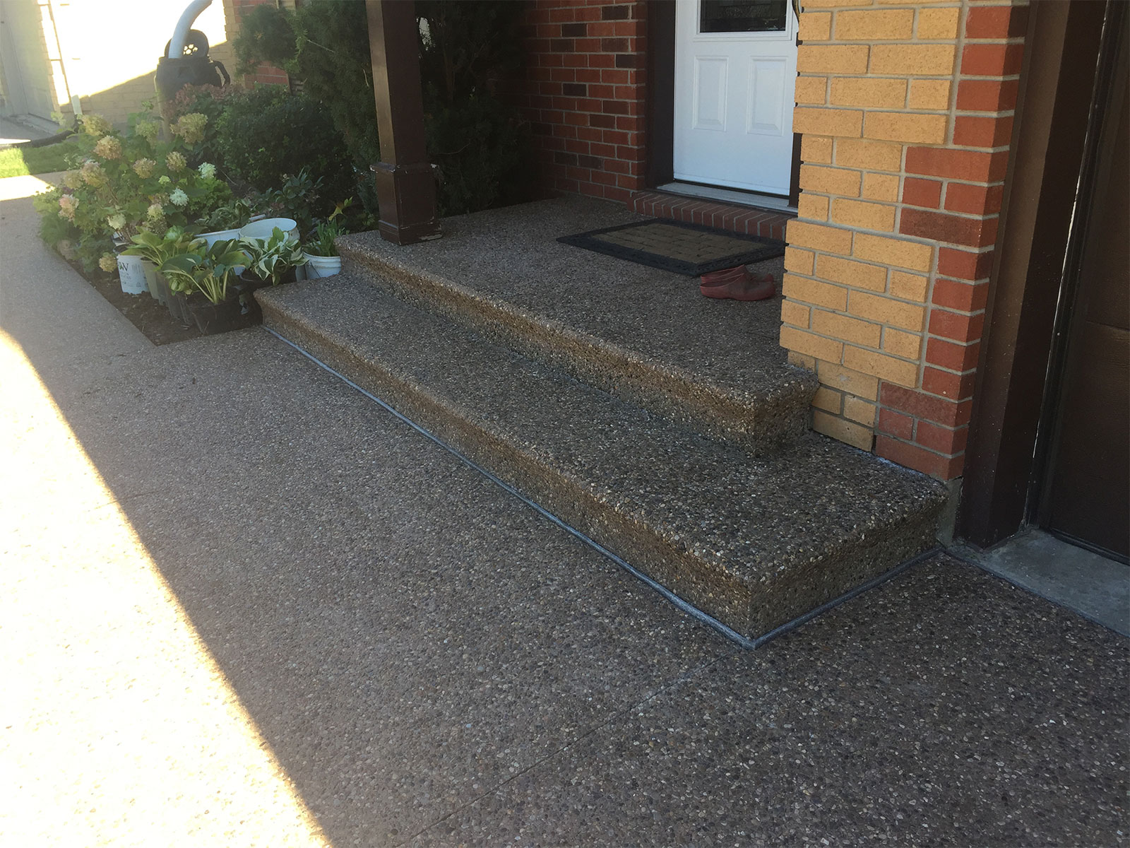 Exposed Aggregate Steps with Bullnose