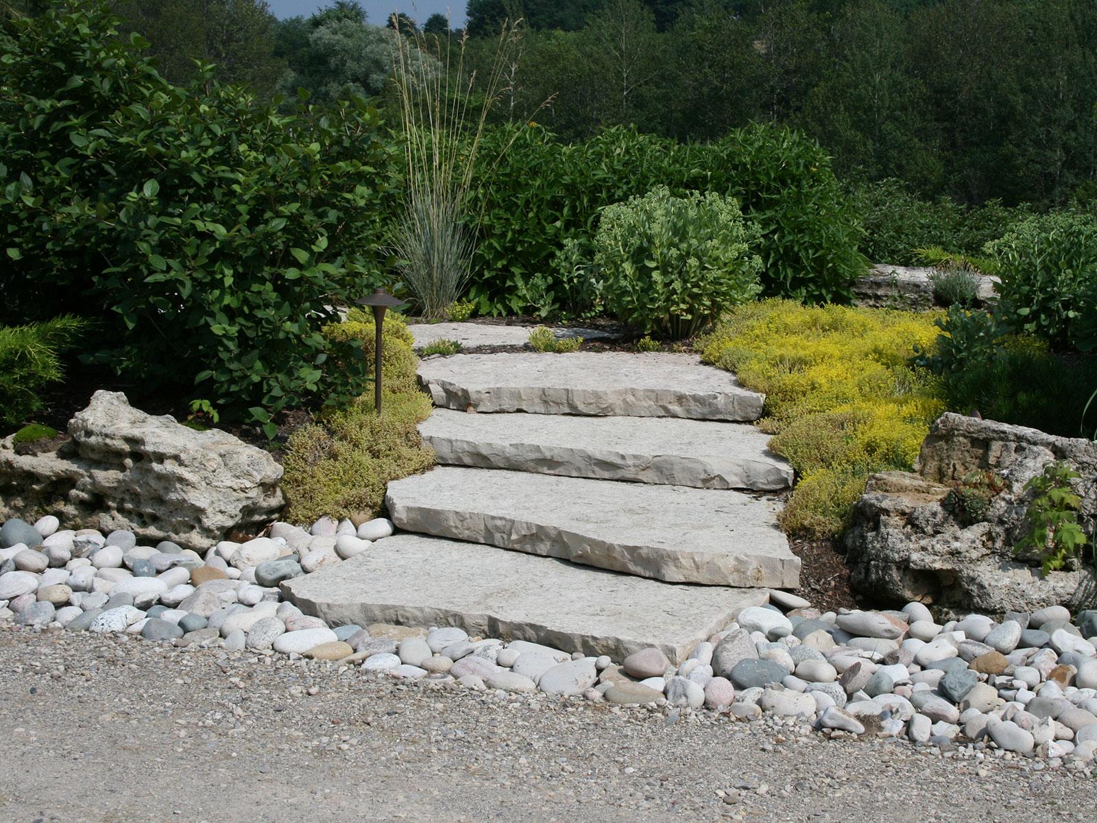 Jumbo Flagstone Garden Steps