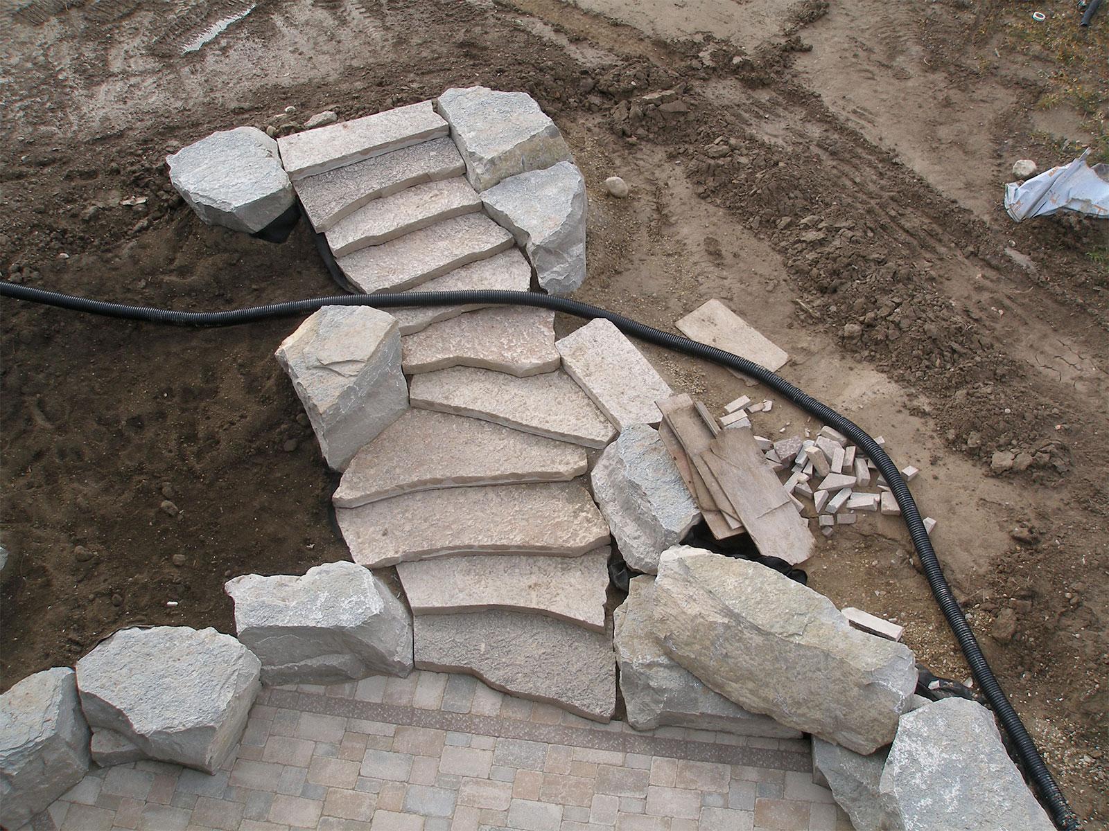 Jumbo Flagstone Steps