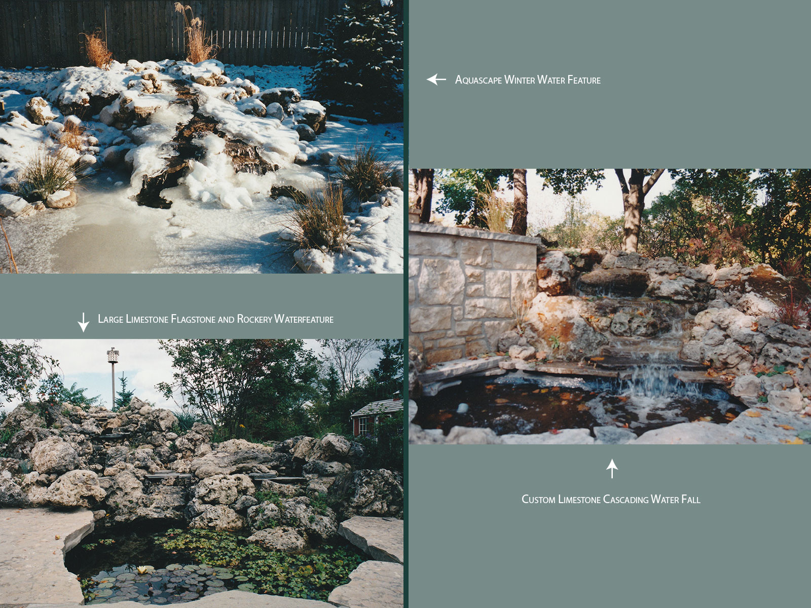 Aquascape and custom Limestone Water Features
