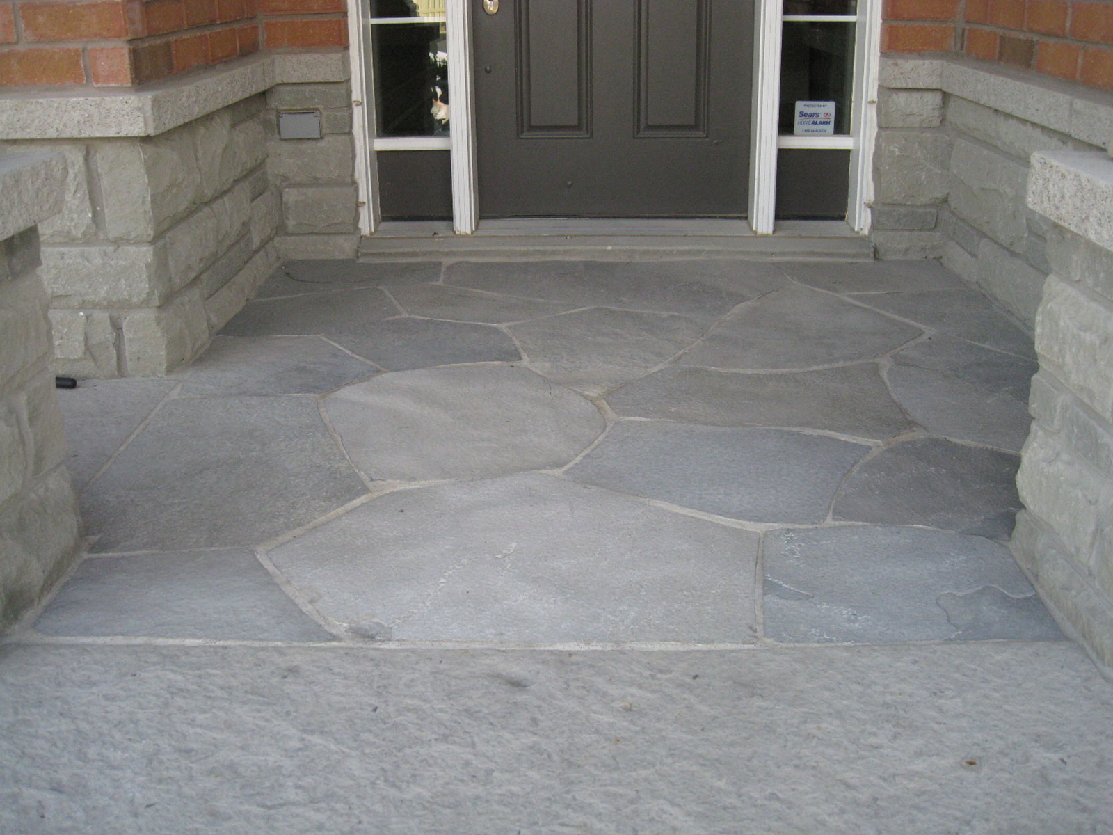 Mortared Random Flagstone Landing