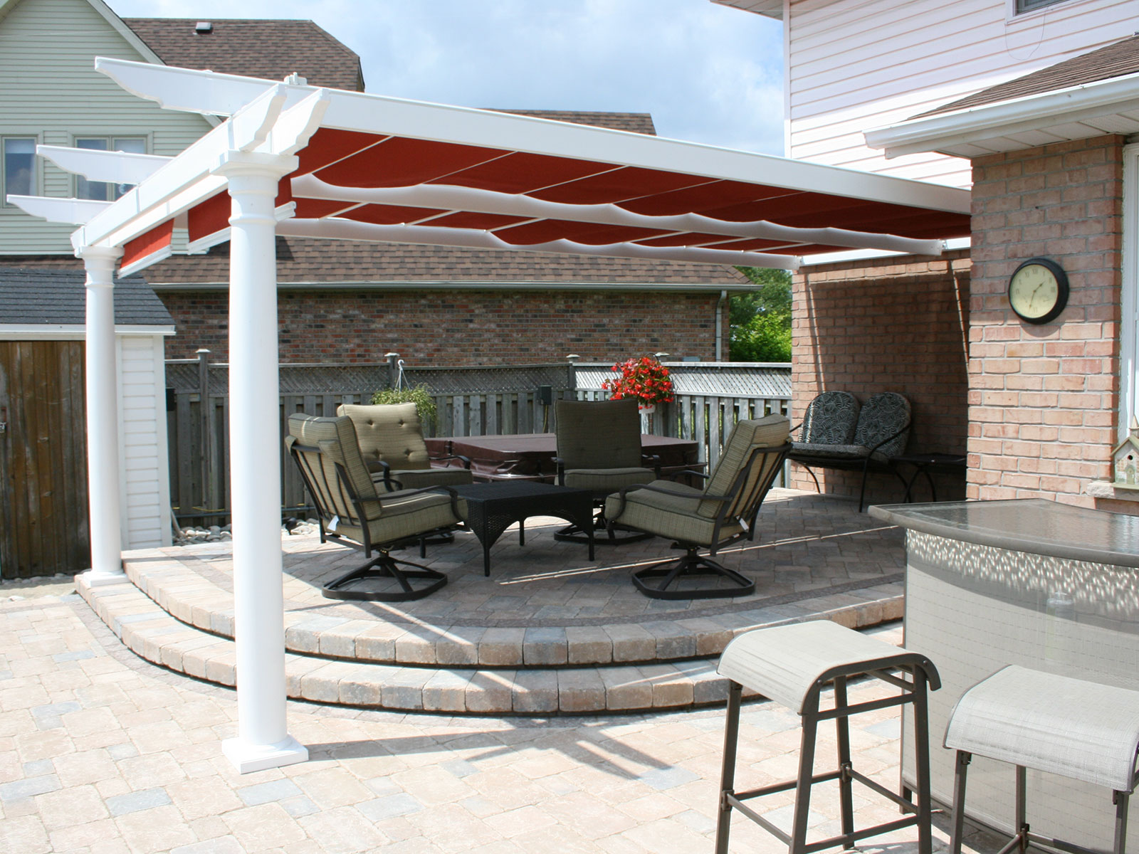 Shaded Raised Patio
