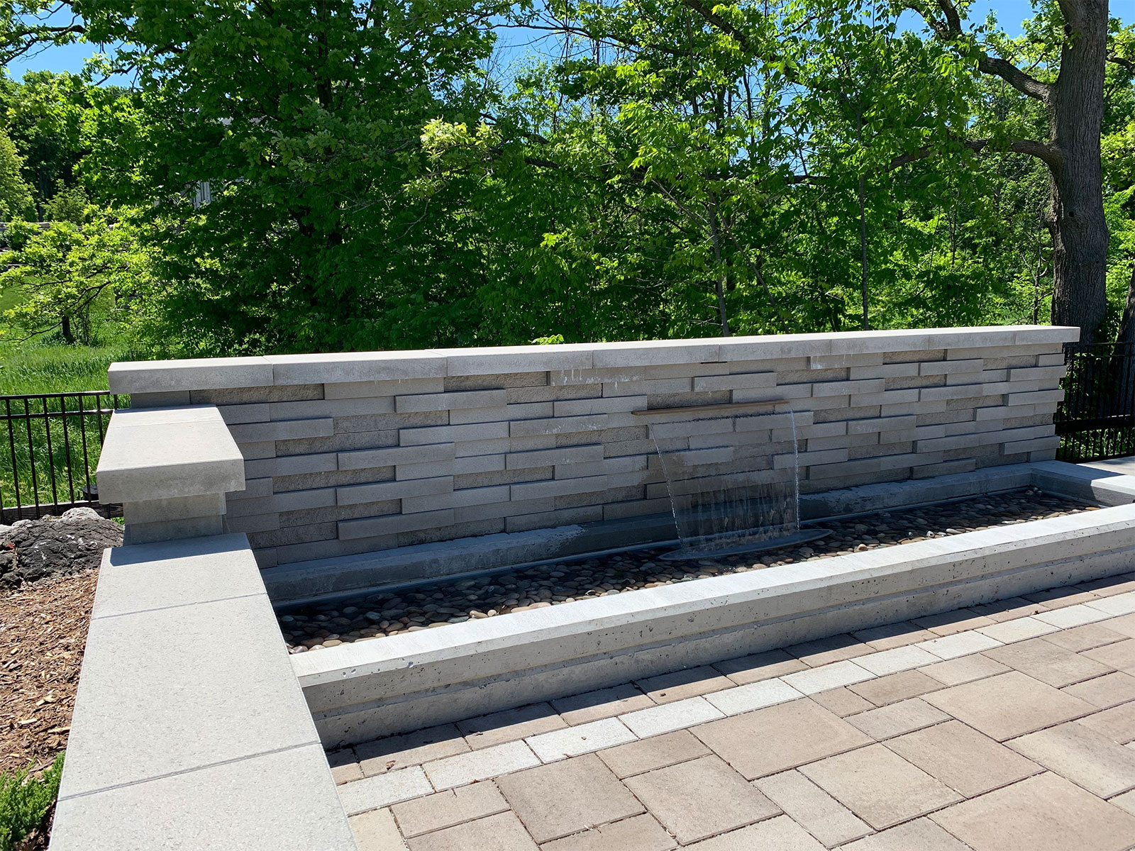 Techo Bloc Graphix Wall concrete water feature
