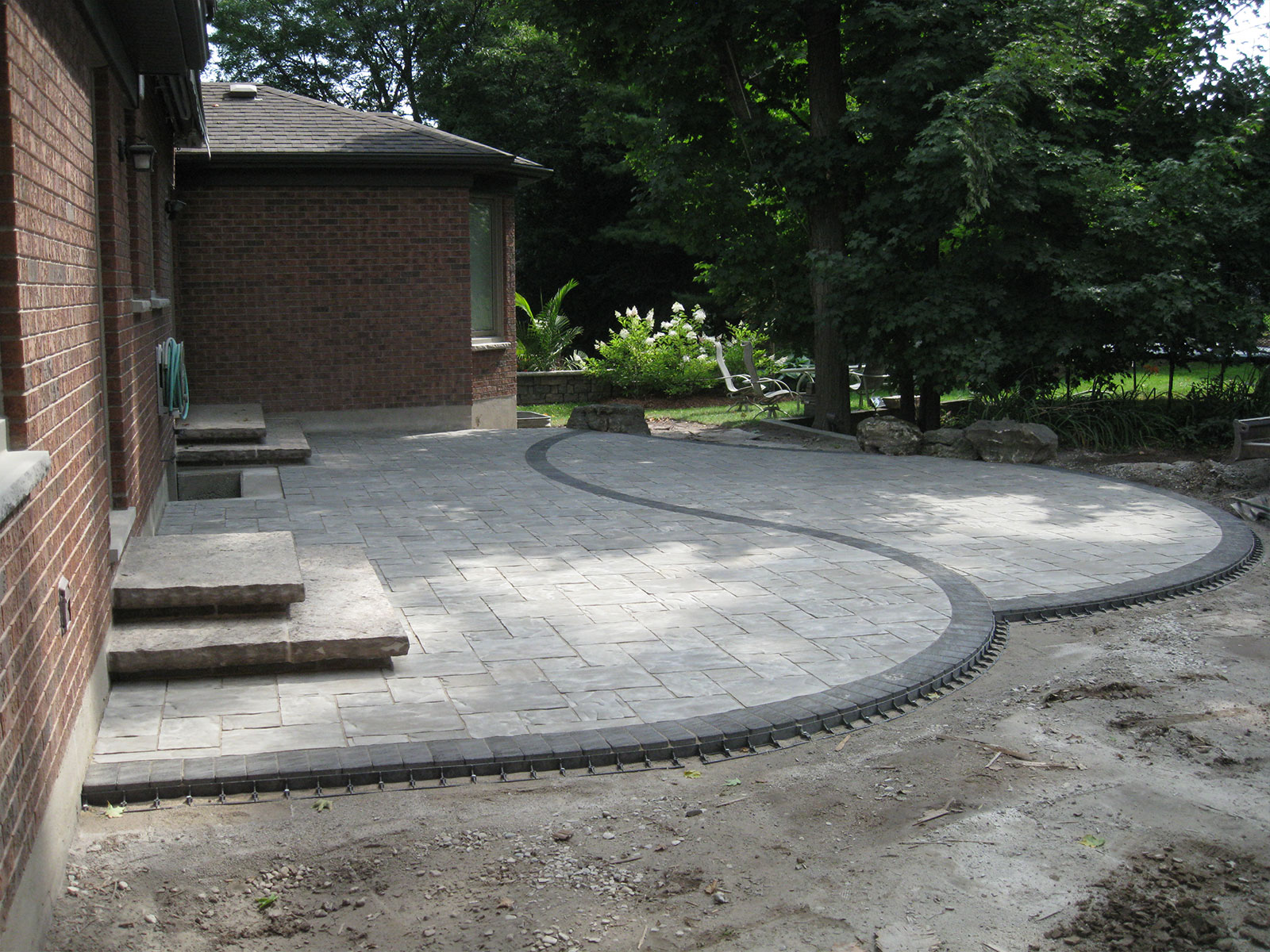 Unilock Concrete Paver Patio Build