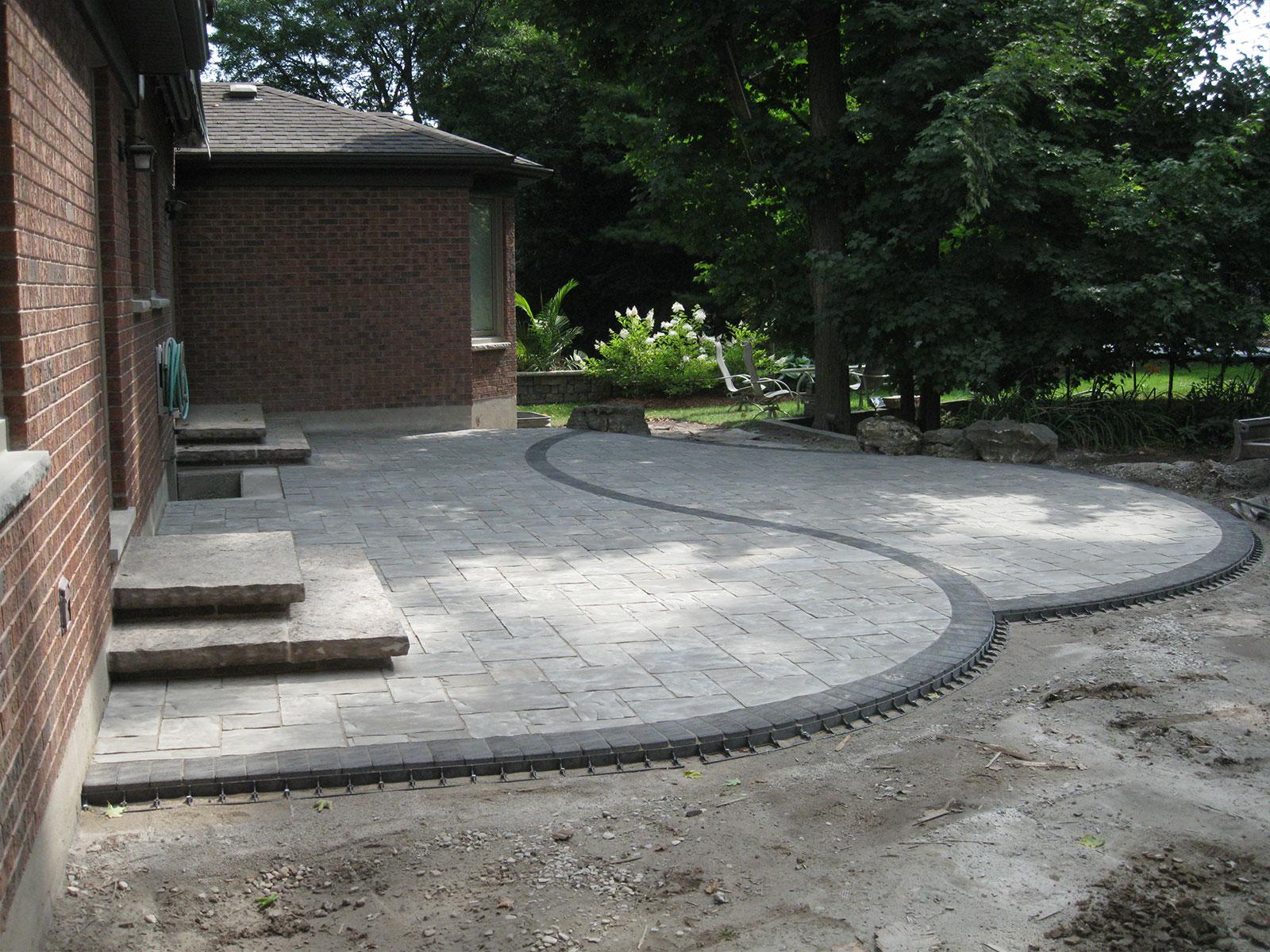 Unilock Concrete Paver Patio Build