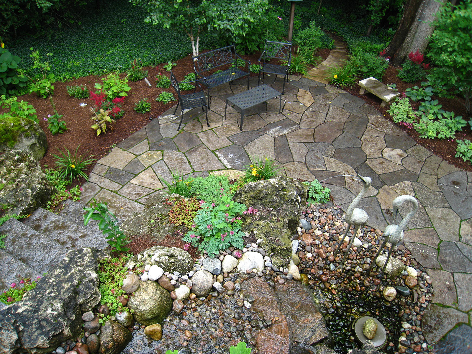 Woodland Flagstone Patio