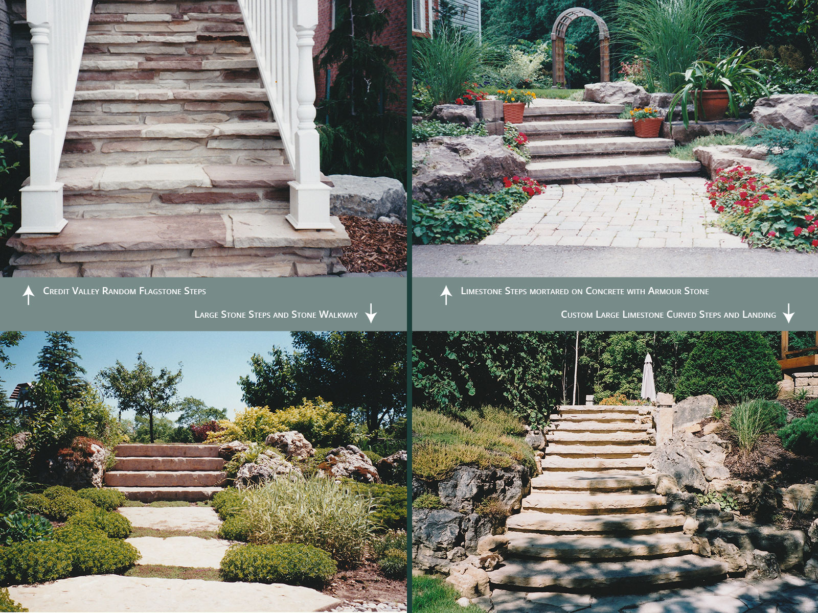 stone steps created by Chris Bradley Group