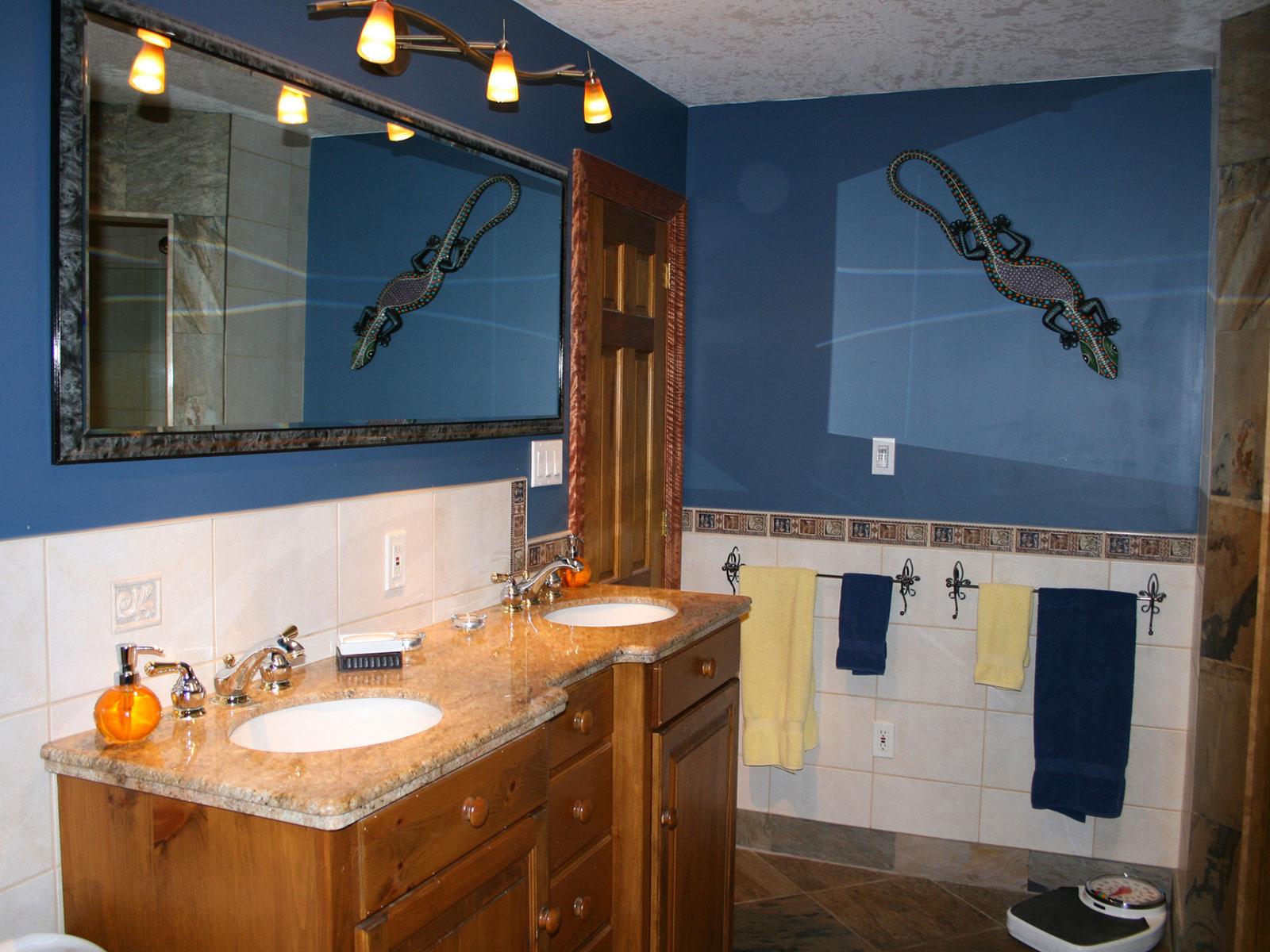 Bathroom Double Sinks Pine Vanity