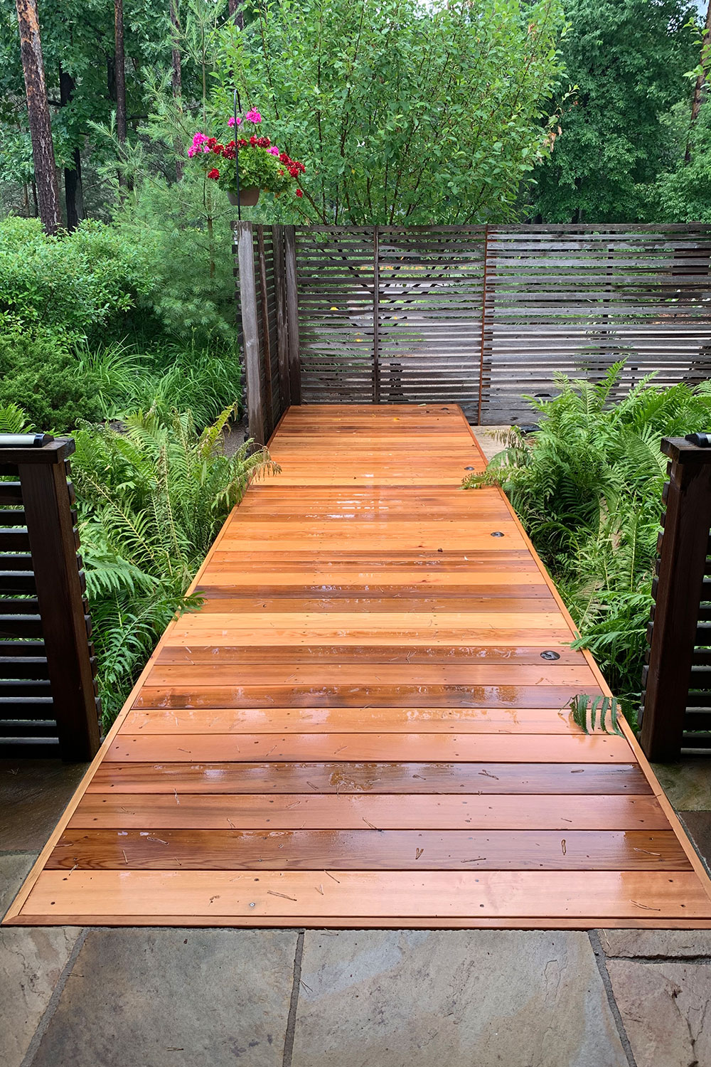 Clear Cedar Bridge Walkway